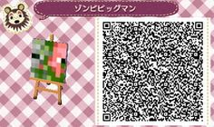Found some ACNL MineCraft QR CODES Here is a Zombie Pigman