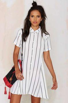 Straight and Narrow Shirt Dress