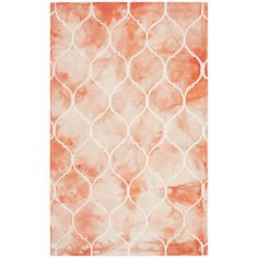 A captivating blend of color and texture, this dip-dyed wool rug showcases an ogee print and orange ombre hue.  Product: Rug