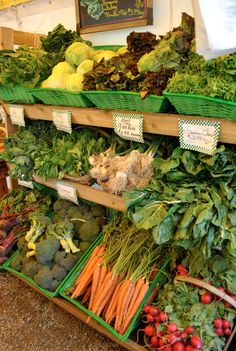 we see our farm stands with beautiful displays.