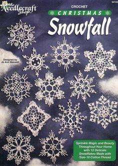 Crochet Christmas Snowfall