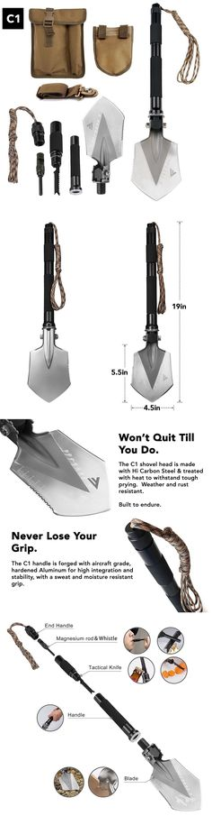 Camping Shovels 75233: Military Folding Shovel Multitool (C1) Tactical Entrenching Tool Emergency Kit -> BUY IT NOW ONLY: $85.55 on eBay!