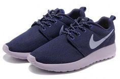 quality design fb39e 93815 Nike Roshe Run Womens Purple Silver Mesh Shoes