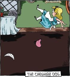 Alice and the Cheshire Dog...