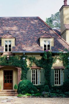 Hipped roof & dormers - eclectic french