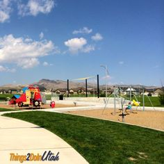 We have to go here! Easily the BEST park in Utah. Check out the huge pyramid. Things2doinutah.com #utah #park #playground #pyramid #saratoga #springs