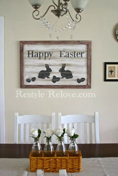 Restyle Relove: DIY Farmhouse Style Easter Sign
