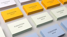 Clouston visual identity and business cards designed by Founded.