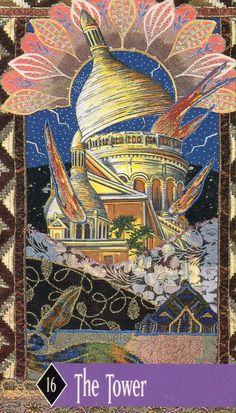 Zerner Farber Tarot - The Tower The Tower Tarot, Tarot By Cecelia, Astrology And Horoscopes, Tarot Major Arcana, Tarot Card Decks, Tarot Spreads, Tarot Readers, Oracle Cards, Archetypes