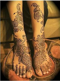 Bridal Mehndi Design For Foot!
