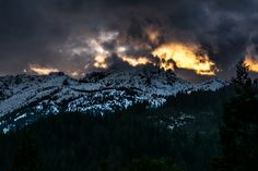 Sunset over the Trinity Divide at Burstarse Falls.- Mount Shasta's Best Day Hikes