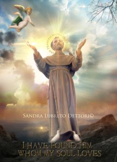 St. Francis of Assisi Digital Poster Print by Sandra Lubreto Dettori