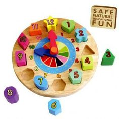 shape sorting clock,shape sorter clock,wooden shape sorter,cheap shape sorting clock