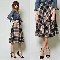 The Kissing Tree Vintage Vintage Wool Skirt
