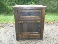 We are now taking deposits to put the order in rotation! Please ask about putting down $50 to start the order process! Final payment due before shipping. Rustic handmade nightstand made from white wood, pine and reclaimed pallet wood. Each piece of wood is hand picked for the perfect amount of character.  First 3 pictures are the Early American stain, fourth is Golden oak and the last is Dark Walnut.   If you prefer a different stain please contact me for details. I also use full extension…