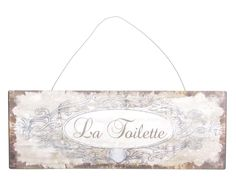 Placa Decorativa La Toilette - 36X13cm | Westwing - Casa & Decoração