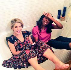 Emily & Fanta #Arrow #Season4 Warp party