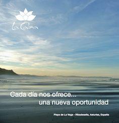 """""""Cada día nos ofrece... una nueva oportunidad""""  Te invitamos a seguir nuestros consejos y reflexiones #wellness en http://la-calma.es/seccion/blog/"""
