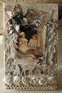 Merete sin kortverden: Toffifee-eske! Beautiful Christmas Cards, Vintage Christmas, Christmas Ideas, Card Maker, Vintage Shabby Chic, Any Images, Tim Holtz, Grapevine Wreath, Grape Vines