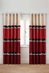 Red Velvet Panel Eyelet Curtains (892213X53) | £45 - £75