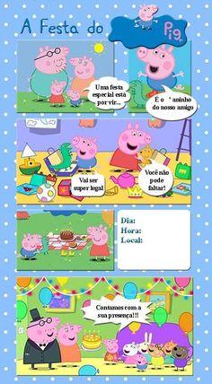 Convite estória Peppa Pig