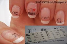 maths geeks are cool I Love Math, Fun Math, Maths, School Nail Art, Freaks And Geeks, Math Humor, Classroom Fun, Diy Nails, Hair And Nails
