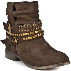 DV by Dolce Vita Bronco - Bronze Suede ($79) ❤ liked on Polyvore