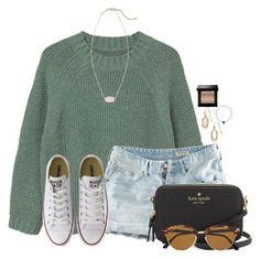 The best of both worlds by flroasburn on Polyvore featuring polyvore, fashion, style, MANGO, H&M, Converse, Kate Spade, Kendra Scott, Ray-Ban, Bobbi Brown Cosmetics and clothing