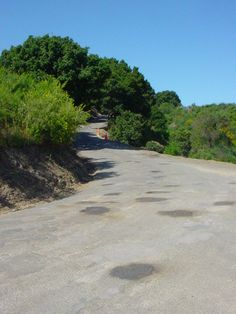 An isolated road...a hill...out of breath and out of luck!