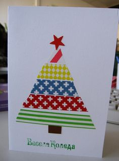 another cute washi tape Christmas card  http://wishywashi.com for the tape