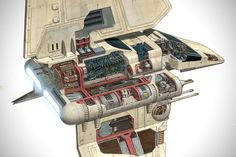 Incredible Cross Sections of Star Wars by David Reynolds 1