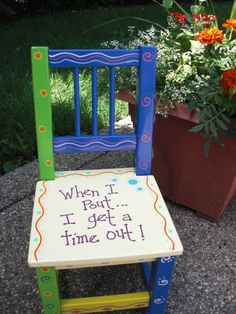 Hand painted Time Out Chair by minisandmore on Etsy, $40.00