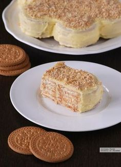 easy and simple dessert eceta Easy Cake Recipes, Sweet Recipes, Dessert Recipes, Cupcakes, Cupcake Cakes, Cookies Et Biscuits, Marie Biscuits, Food Cakes, No Bake Desserts