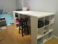 Lovely Superb Craft Table With Storage Ikea