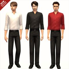 Mod The Sims - Rolled-Up Sleeves & Fancy Pants [New Improved Textures - June 5, 2012]