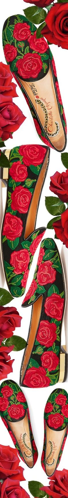 ❈Téa Tosh❈ Charlotte Olympia, Rose slipper #CharlotteOlympia #teatosh Flower Quotes, Rose Cottage, Old Hollywood Glamour, Floral Fashion, Flower Delivery, Shades Of Red, Charlotte Olympia, Red Green, Fashion Boots