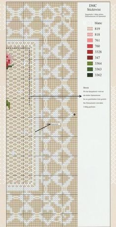 miniature needlework chart (right side)