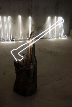 Keith Lemley neon art installation