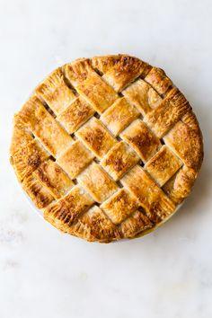Butterscotch Vanilla Pear Pie