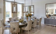 love the attention to light - natural, reflecting, accent and the modern/classic chandelier