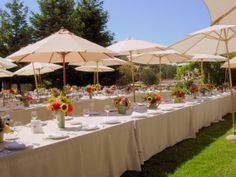 Long family-style tables at Rancho Nicasio