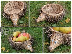 корзиночка-ежик для фруктов - печенья и многого другого