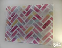 Creating a custom painting with a Herringbone pattern.