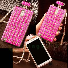 Rosy Diamond Perfume Bottle Chain Handbag Silicone Case For Samsung Galaxy S 5 #UnbrandedGeneric