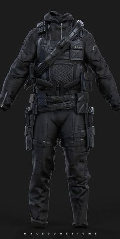 ArtStation - Combat Hazmat/Stealth Suit , Thiago Macedo / Macedo Designs Source by supashayne clothes ideas modern Tactical Armor, Tactical Wear, Tactical Clothing, Tactical Survival, Tactical Uniforms, Stealth Suit, Mode Sombre, Combat Gear, Combat Suit