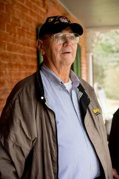 Dad at the historic johnson farm