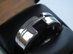 hand crafted stainless steel mens ring. $215.00, via Etsy.