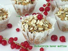 Suikervrije haver muffins - Xandra Bakt Brood