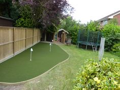How about installing a putting green in the garden to perfect your shot? #Nomow #Golf #ArtificialGrass