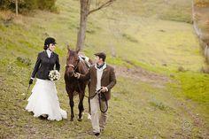 Vintage Equestrian Wedding Shoot